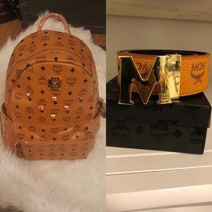 MCM Backpack and MCM Belt